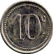 10 centimes - pharmacie Mourgues - Ganges [34] – revers