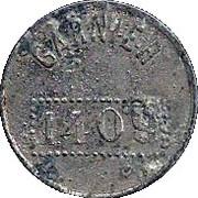 JETON 1 FRANC GARNIER 1409 – avers