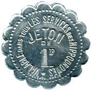 1 Franc - Société Sportive d'Encouragement - Paris [75] – avers