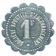 1 Franc - Société Sportive d'Encouragement - Paris [75] – revers