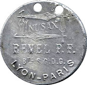 16,50 Francs - Inusax Revel P.F - Lyon-Paris – avers