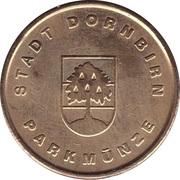 token Stadt Dornbirn (parkmunze) – avers