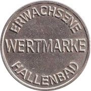 Public swimming pool token - adult - (Sinsheim) – revers