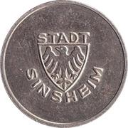Public swimming pool token - adult - (Sinsheim) – avers