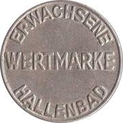 Public swimming pool token - adult - (Homburg) – revers