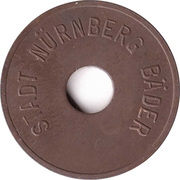 Public swimming pool token - Nurnberg (youth) – avers