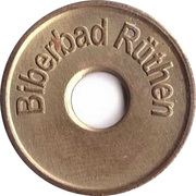 Public swimming pool token - Biberbad Ruthen (youth) – avers