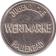 Public swimming pool token - Ludwigsburg (youth) – revers