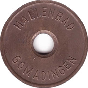 Public swimming pool token - Gomadingen (youth) – avers