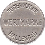 Public swimming pool token - Schwaig (youth) – revers
