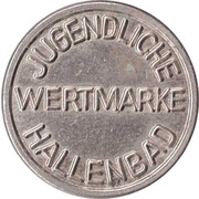 Public swimming pool token - Forchheim (youth) – revers