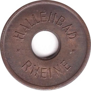 Public swimming pool token - Rheine (adult) – avers