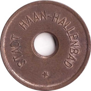 Public swimming pool token - Haan (adult) – avers
