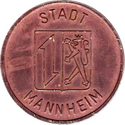 Public swimming pool token - adult - (Mannheim) – avers