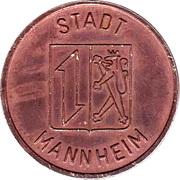 Public swimming pool token - adult - (Mannheim) – avers