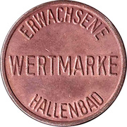 Public swimming pool token - adult - (Mannheim) – revers