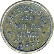 Bon pour une audition - Phonos Boulevard - Paris [75] – revers