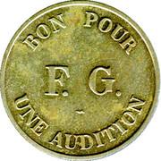 Bon pour une audition - RADIOCINE- FG - Paris [75] – revers