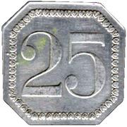 25 Centimes - Prison Saint-Lazare - Paris [75] – revers