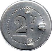 2 Francs - Prison Saint-Lazare - Paris [75] – revers