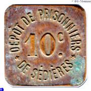 10 Centimes Dépot de Prisonniers de Sédières - Clergoux [19] – avers