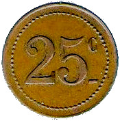 25 Centimes Dépot de Prisonniers de Sédières - Clergoux [19] – revers