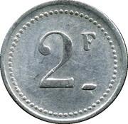 2 Francs - Asile départemental de Saint-Ylié - Dôle [39] – revers