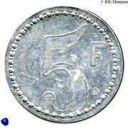 5 Francs - Asile départemental de Saint-Ylié - Dôle [39] – avers