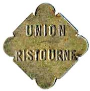 Jeton Union Ristourne – revers
