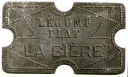 Légume Plat - La Bière - Paris [75] – revers