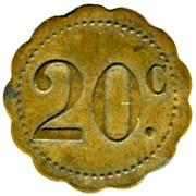 20 Centimes -Grand bar francais Ch. Bruguiere - Montpellier [34] – revers