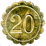 20 Centimes Café St Roch P.Avinens - Montpellier [34] – revers
