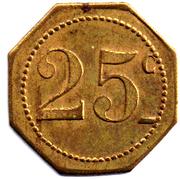 25 centimes - Grand café moderne - Nîmes [30] – revers