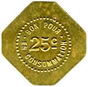 25 Centimes - Café Miramand - Le Puy [43] – revers