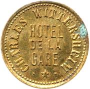 20 centimes Hotel de la Gare - Charles Wittersheim – avers