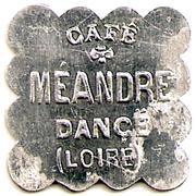 25 Centimes - Café Méandre - Dançé [42] – avers