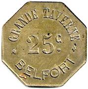 25 Centimes - Grande Taverne - Belfort [90] – avers