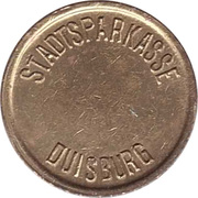 Safe deposit token - Stadtsparkasse Duisburg – revers