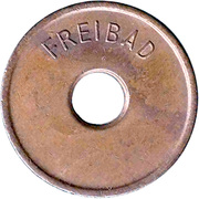Public swimming pool token - Revierpark Gysenberg – revers