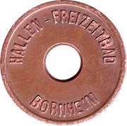 Public swimming pool token - Bornheim (youth) – avers