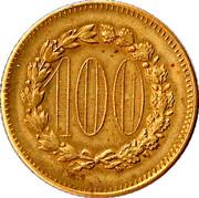 Jeton de jeux  - 100 – avers