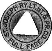 Full Fare - St. Joseph Ry. Lt. Ht.& Pr. Co. (Saint Joseph, Missouri) – avers