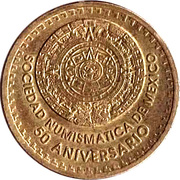 Token - 50 Aniversario Sociedad Numismatica de Mexico – avers