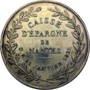 Jeton de la Caisse d'Epargne de Nantes – revers