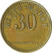 30 Werth-Marke – avers