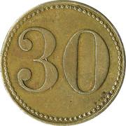 30 Werth-Marke – revers