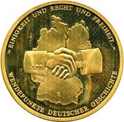 Token - Wendepunkte Deutscher Geschichte (Originalteil Berliner mauer) – revers