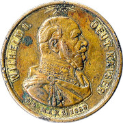 Médaille Wilhelm I (Mort de l'empereur) – avers