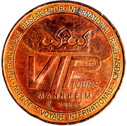 VIP Tours Mannheim Goldener Reisetaler – revers
