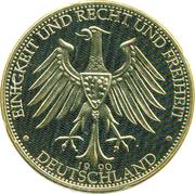 Token - Deutschland (Deutschland einig Vaterland) – revers